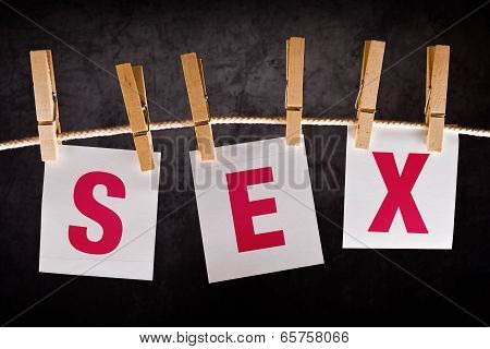 Word Sex On Notes Paper