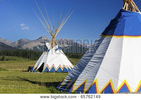 Authentic tepee from Native North Americans poster