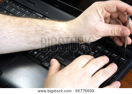 Untwisting of laptop