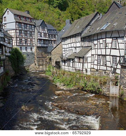 Monschau, typical village of the Eifel region, Germany, Europe poster