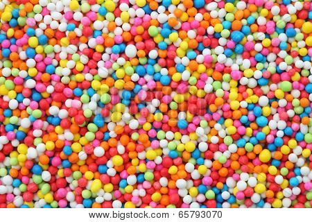 sweet sugar spreading pastry decoration background