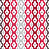 Abstract tangled lattice pattern. Seamless vector background. poster