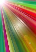 Abstract bright background with divergent colorful rays of glowing  angle poster