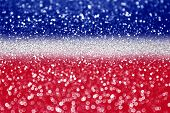 Red white and blue glitter sparkle background poster