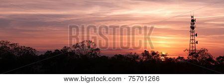 Radio Tower with sky - Panoramic