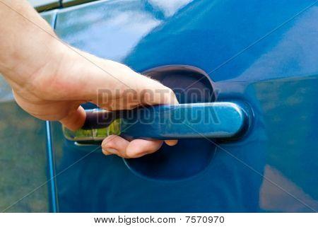 Hand Opening Car Door