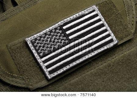 American Flag On Vest
