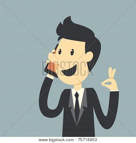 Businessman Say Hello