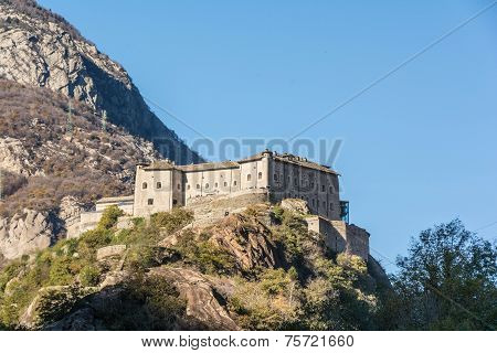 Bard Fort in Aosta Valley