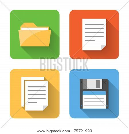Flat File Icons. Vector Illustration