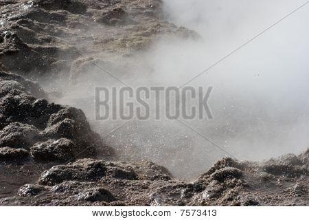 Geyser Eruption, El Tatio Geyser Valley, Chile