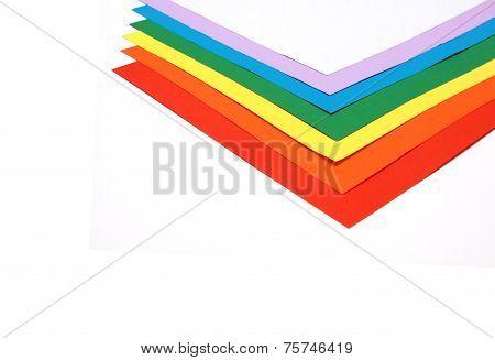 Rainbow Coloured Paper Pile