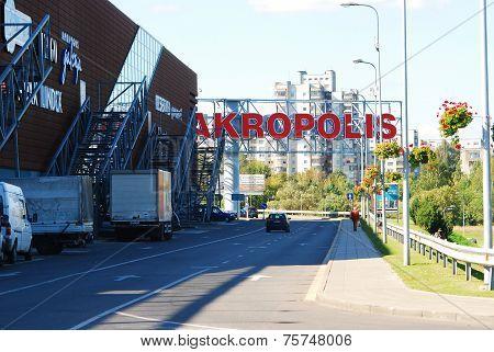 Akropolis Schopping Center In Vilnius City