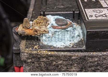 Mold On Car Battery Post