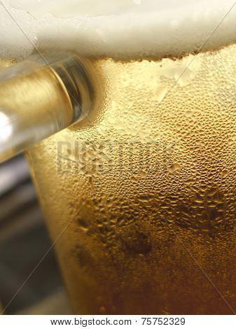 Close up of a mug of beer poster
