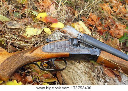 A Wooden Retro Shotgun