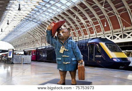Paddington Bear At Paddington Station In London