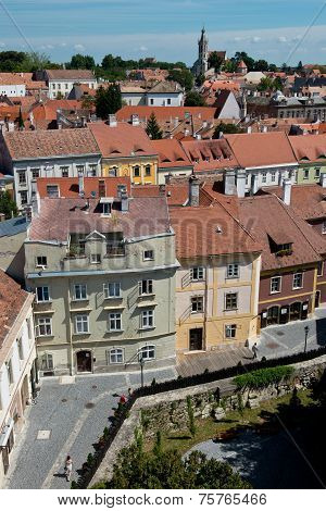 The Roofs Of The Old Town Of Sopron
