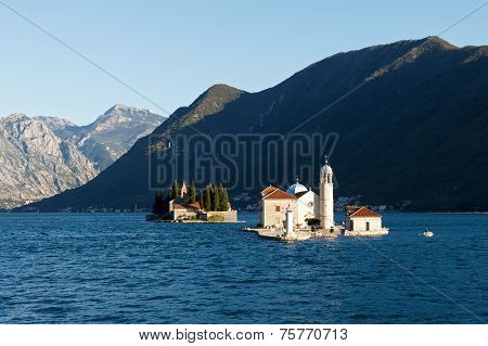 Our Lady Of The Rocks (gospa Od Skrpjela)  And Island Of Saint George, Montenegro