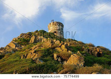 La Tour de la Parata - a ruined Genoese tower in Ajaccio Corsica France poster