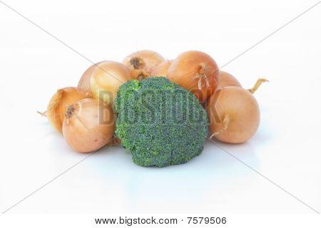 Broccoli and onions