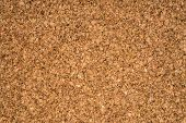 Bright background cork brown closeup shot. One can use as a background texture. poster