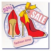 selling shoes. vector illustration of the shoe. poster