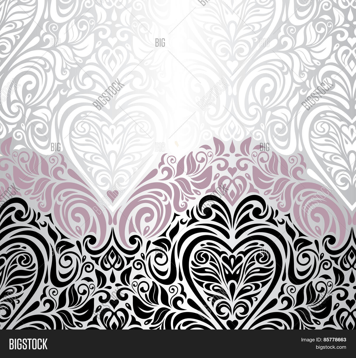Pink Silver Black Vector & Photo (Free Trial) | Bigstock
