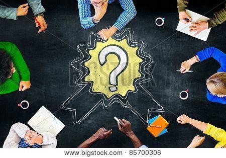 Question Mark Asking Winning Reward Concept