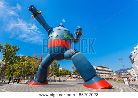 Tetsujin 28 - Go (Gigantor) Monument in Kobe, Japan