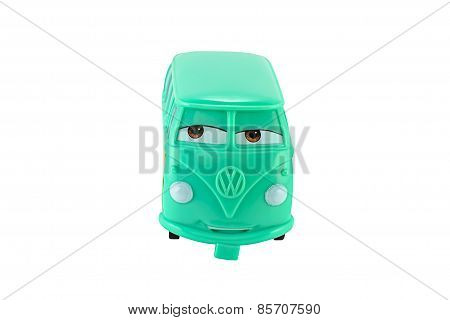 Fillmore 1960 Volkswagen Bus Toy Character From Disney Pixar Cars.