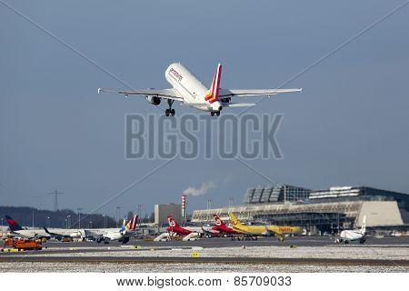 Germanwings Airbus A319 Airplane Stuttgart Airport