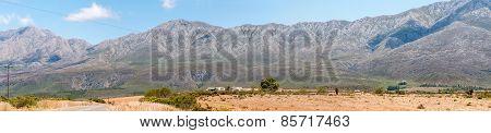 Swartberg (black Mountain) Pass Panorama