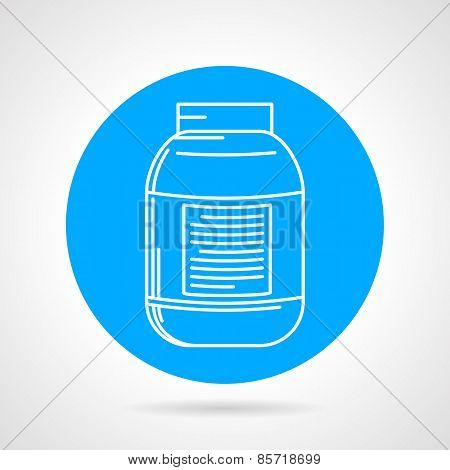 Creatine can round vector icon