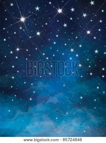 Vector sky background.
