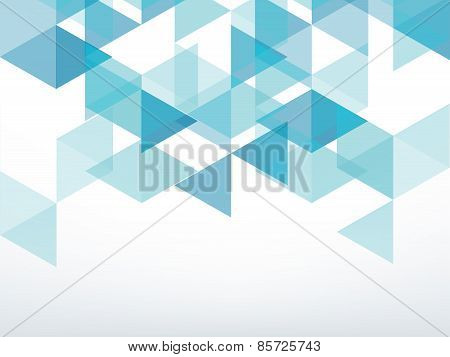 Dark Green Triangle Abstract Background