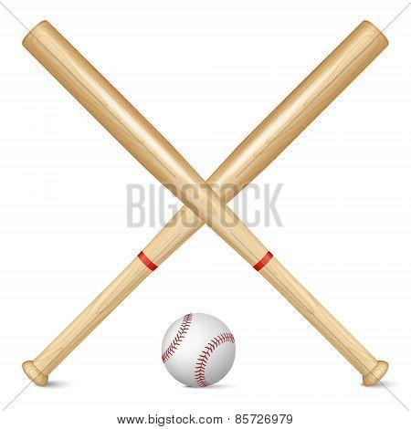 Realistic Baseball Bats And Ball