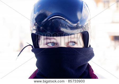 Girl Teenager Ski Helmet Snowboarder
