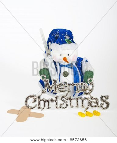 Snowman Decoration With Medical Equipment