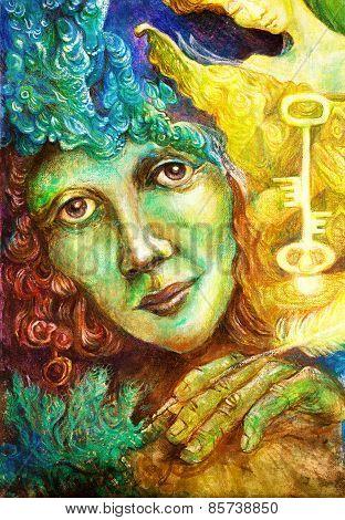 Golden Burning Keykeeper Of The Farie