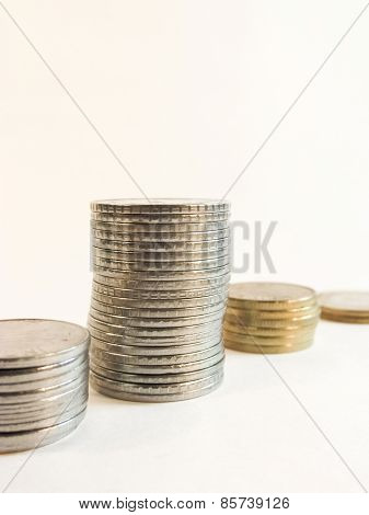 Metal Currrency Coins Arranged In A Pattern 2