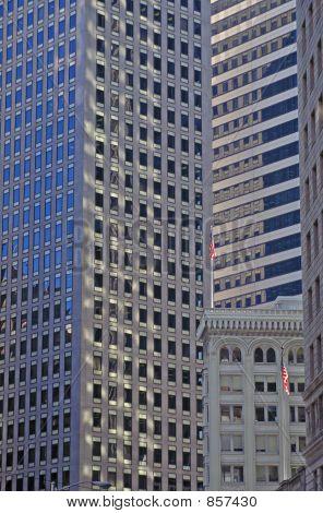 San Francisco Highrises W/Flags