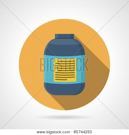 Flat color vector icon for creatine supplements