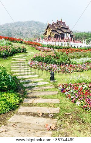 Traditional Thai Architecture In The Lanna Style , Royal Pavilion (ho Kum Luang), Chiang Mai, Thaila