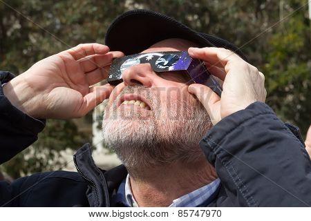Partial Solar Eclipse Over Greece