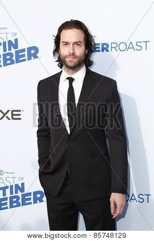 LOS ANGELES - MAR 14:  Chris D'Elia at the Comedy Central Roast of Justin Bieber at the Sony Pictures Studios on March 14, 2015 in Culver City, CA