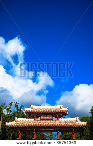 Shurei Gate of Shuri Castle in Okinawa