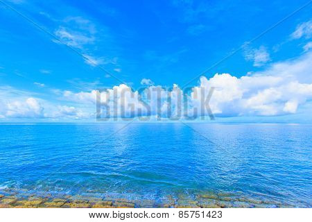 Blue sea and blue sky in Okinawa