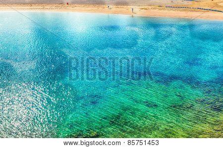 Emerald green ocean beach in Okinawa, Japan