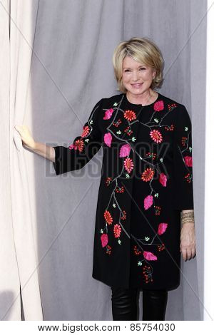 LOS ANGELES - MAR 14:  Martha Stewart at the Comedy Central Roast of Justin Bieber at the Sony Pictures Studios on March 14, 2015 in Culver City, CA